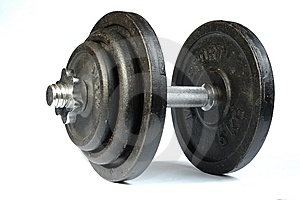Old Dirty Dumbbells. Stock Photo - Image: 7068480