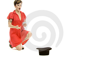 Hat Trick Girl Royalty Free Stock Photos - Image: 710398