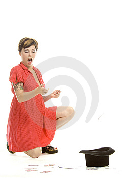 Hat Trick Girl Royalty Free Stock Photography - Image: 710427