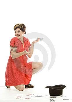Hat Trick Girl Stock Image - Image: 710431