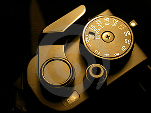 Film Crank of a SLR Camera Royalty Free Stock Image