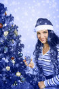 Christmas blue Royalty Free Stock Photo