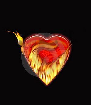 Heart In Fire Stock Images - Image: 7177184