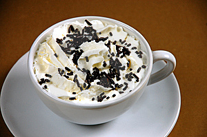 Hot cocoa with whipped cream Free Stock Image