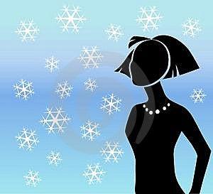 Winterschneeflockeschattenbild Stockbild - Bild: 7188051