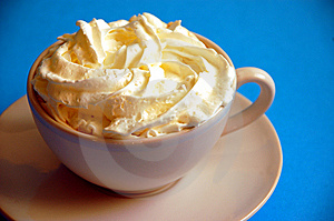 Latte with whipped cream Stock Image