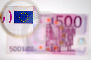 500 Euros With Clack Stock Image - Image: 725671
