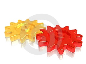 Gears On Teamwork Stock Image - Image: 7214811