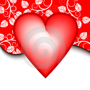 Valentines Day Background With Heart Stock Photography - Image: 7217772