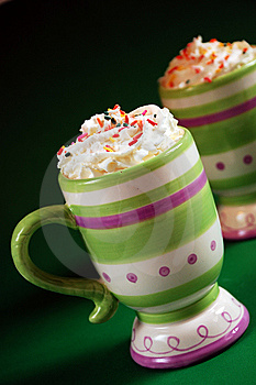 Striped Mug Of Hot Cocoa Royalty Free Stock Photography - Image: 7269897