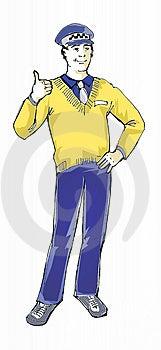 Taxista Foto de Stock Royalty Free - Imagem: 740295
