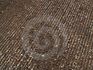 Tread Grooves Cut Into Road Royalty Free Stock Image - Image: 744996