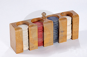 Poker Chips In Case Stock Images - Image: 745164