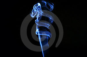 Abstrakt dymu modrá.