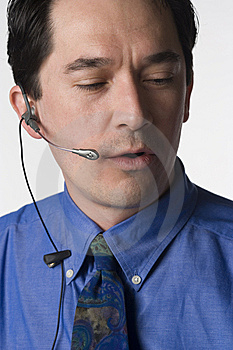 Hands Free Talk Stock Images - Image: 7403654