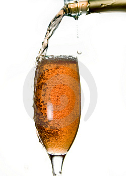 Pouring champagne Royalty Free Stock Images