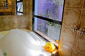 Bathroom With Jacuzzi Royalty Free Stock Photos - Image: 7429698
