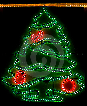 Christmas Tree - Xmas Lights Royalty Free Stock Photography