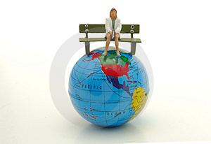 Sitting on Top of The World Stock Images