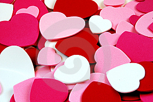 Valentine Heart Shapes Royalty Free Stock Photography - Image: 7509837