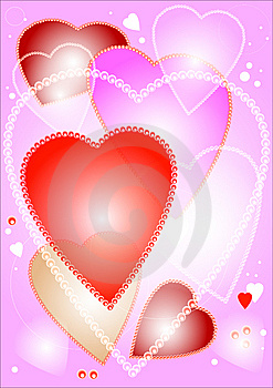 Pink Hearts Background Stock Photo - Image: 7525670