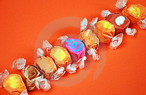Wrapped Taffy Royalty Free Stock Photos - Image: 7598908