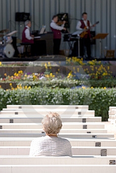 Lone Elderly Woman Watching Jazz Royalty Free Stock Photos - Image: 763668