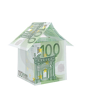 A House Made From Euro Bills Royalty Free Stock Photography - Image: 7628577