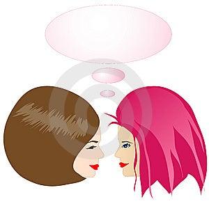 Девушки Gossiping Стоковое Изображение RF - изображение: 7645216