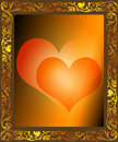 Framed Hearts Stock Images