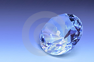 Pale blue gem Royalty Free Stock Image