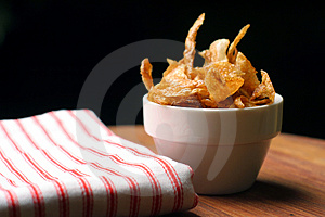 Home-made French Fries And Napkin Royalty Free Stock Image - Image: 772956