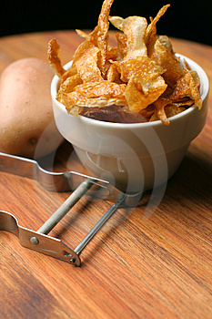 French Fries; Home-made And Crispy Royalty Free Stock Images - Image: 773009