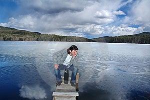 Sad Looking Businessman Sitting Stock Photos - Image: 776773