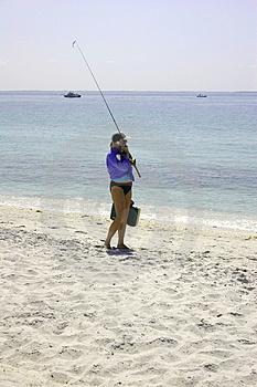 Girl Going Fishing Royalty Free Stock Image - Image: 777156