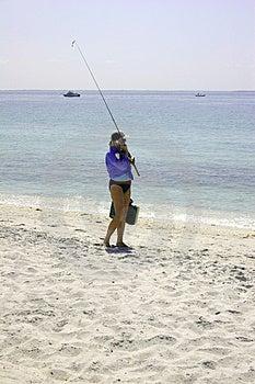 Girl Going Fishing Royalty Free Stock Image - Image: 777156