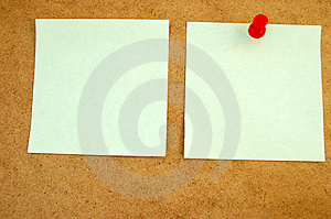 Notice board with post-it note#2 Stock Photos