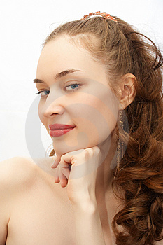 Young beauty girl portrait Royalty Free Stock Photo