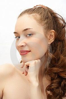 Giovane ritratto della ragazza di bellezza Fotografia Stock Libera da Diritti