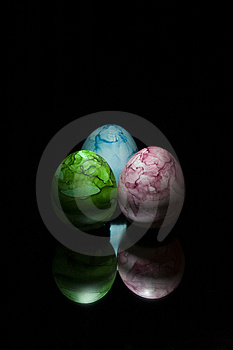 Three Colored Eggs Royalty Free Stock Photography - Image: 779807