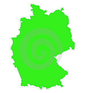 Federal Republic Of Germany Map Outline Royalty Free Stock Images - Image: 7701149