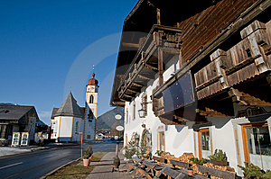 Mountain Village In The Alps Stock Images - Image: 7702674