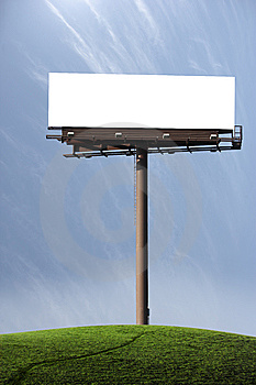 Blank Billboard Stock Image - Image: 7704621