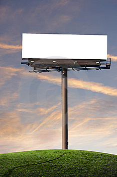 Blank Billboard Royalty Free Stock Images - Image: 7704689