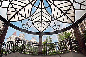 Exaggerated Glass Roof Stock Images - Image: 7704854