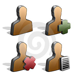 Male Silhouettes Icons Royalty Free Stock Images - Image: 7707669