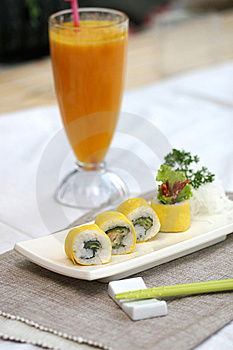 Prepared And Delicious Sushi Taken In Studio Stock Photos - Image: 7709103
