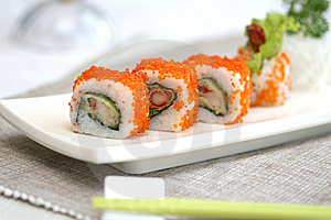 Prepared And Delicious Sushi Taken In Studio Royalty Free Stock Image - Image: 7709296