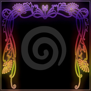 Neon Garland Frame Royalty Free Stock Photo - Image: 7709545