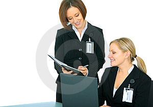 Businessteam Talking Over Daily Agenda Royalty Free Stock Image - Image: 7709576